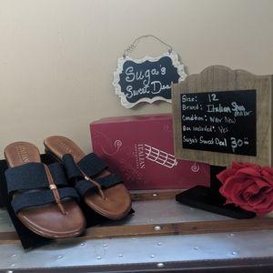 Fabric handmade slide sandal sz11